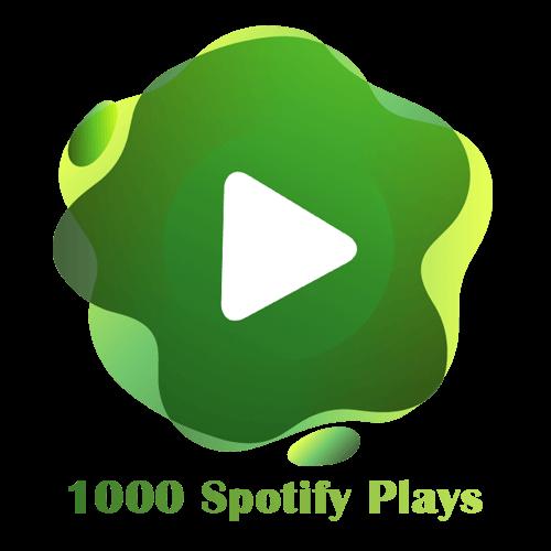 1000 Spotify Plays