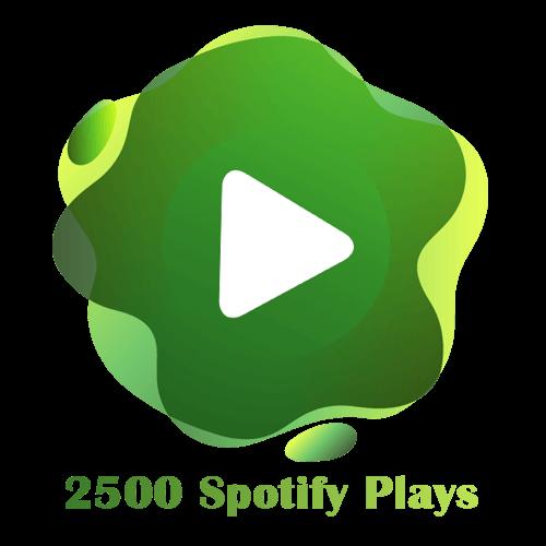 2500 Spotify Plays