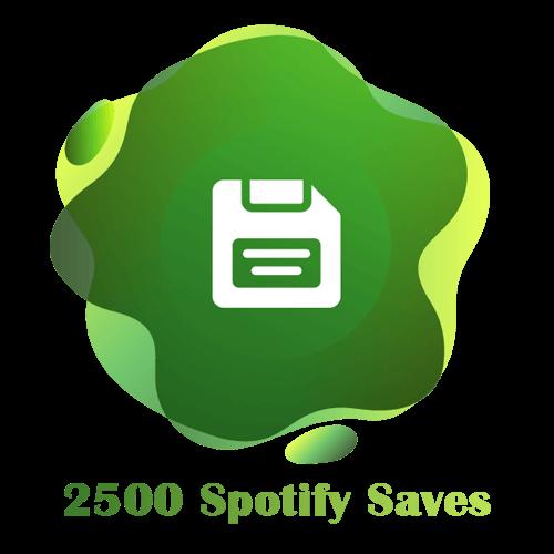 2500 Spotify Saves