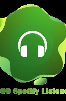 3500 Spotify Listeners