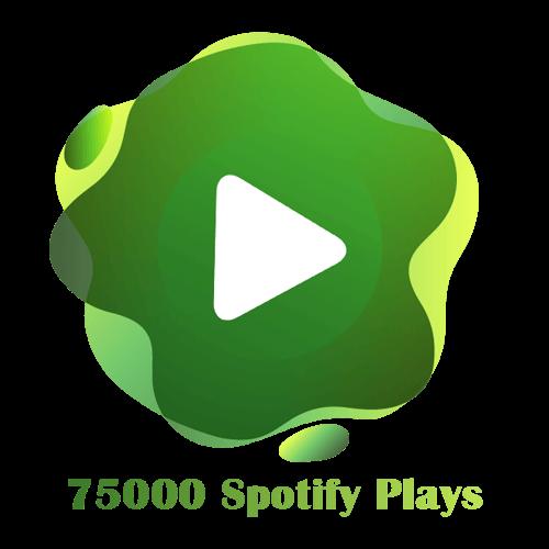 75000 Spotify Plays